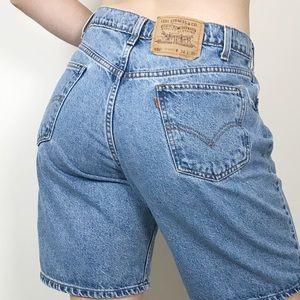 VINTAGE LEVI'S 550 High Waist Bermuda Shorts 32
